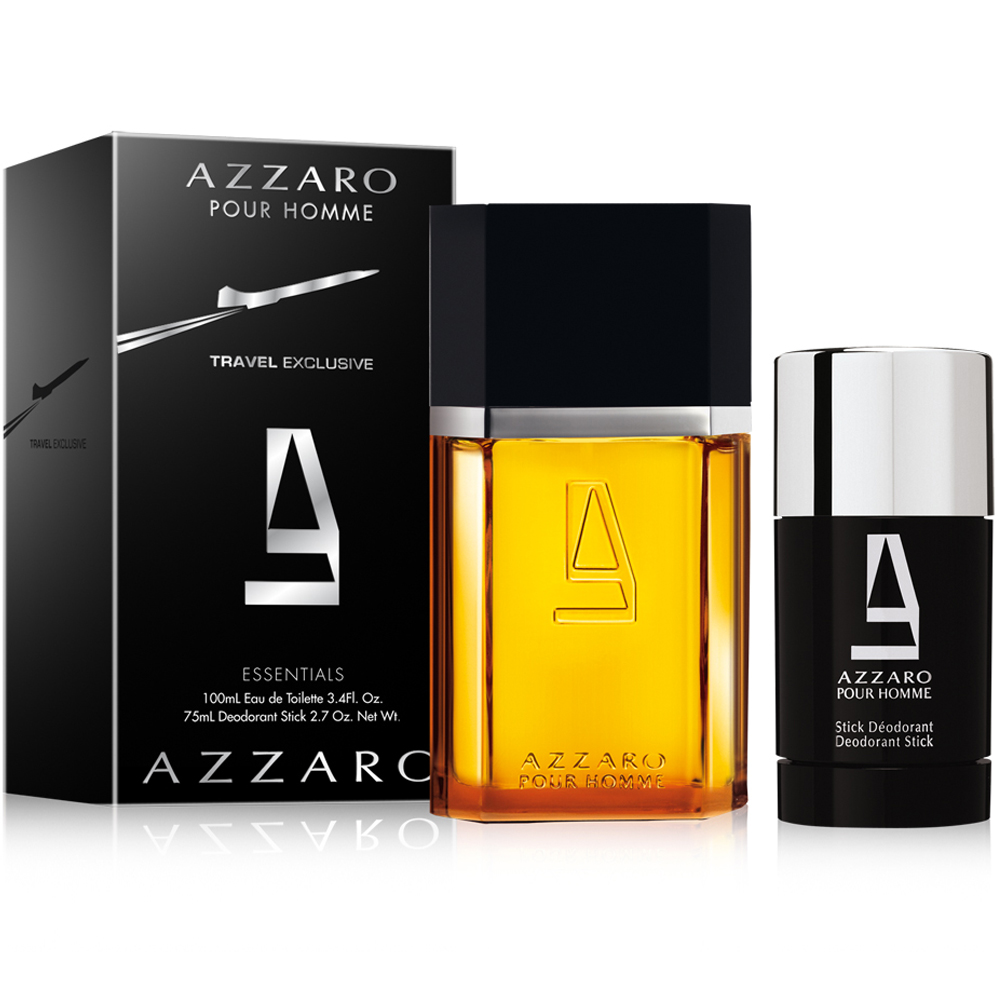 Azzaro Pour Homme Travel Exclusive EDT 100ml & Deodorant Stick 75ml In Gift Box