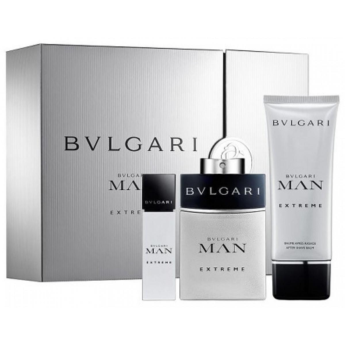 Bvlgari Man Extreme EDT 100ml + EDT 15ml + After Shave Balm 100ml  Gift  Set