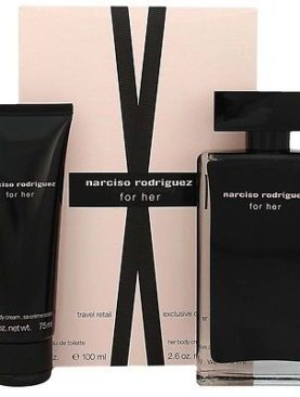 Narciso Rodriguez For Her Eau de Toilette 100ml + Body Lotion 75 ml Gift Set